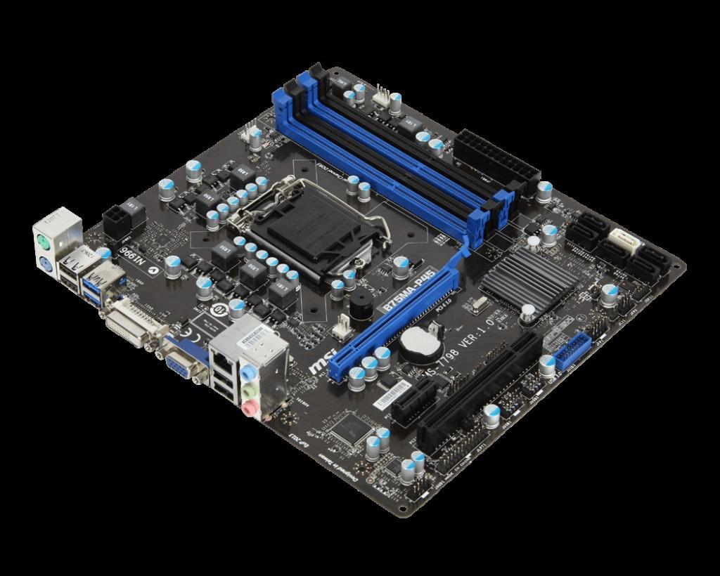 Socket 1155 (MSI B75MA-P45) + (i3-3320)