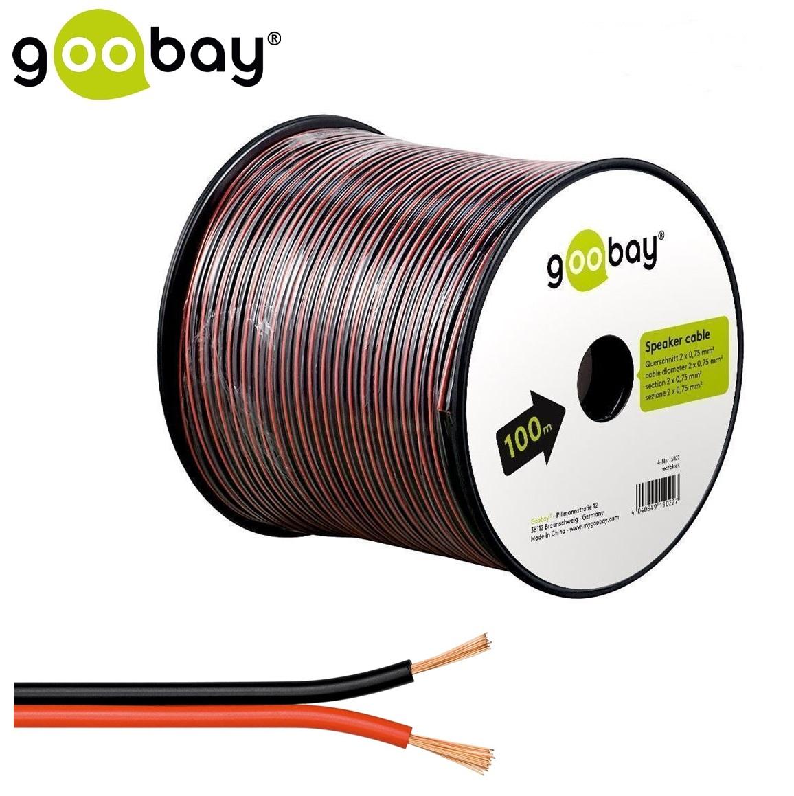 Speaker cable (100.0m Макара 2 x 0.75 mm)GOOBAY