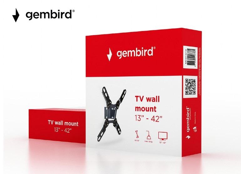 """Стенна стойка Gembird 13""""-42""""с наклон, до 10kg"""