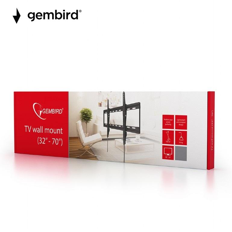 """Стенна стойка Gembird 32""""-70""""с наклон, до 50kg"""