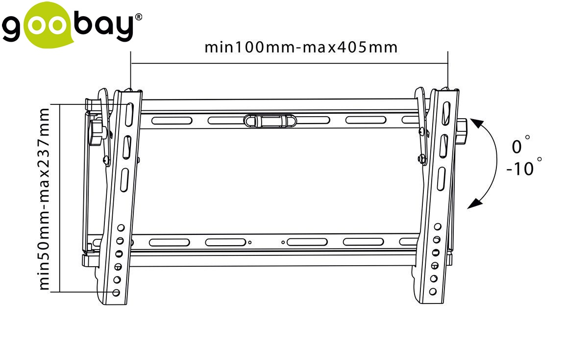 Стенна стойка GOOBAY 63494 TV EasyFlex Slim L
