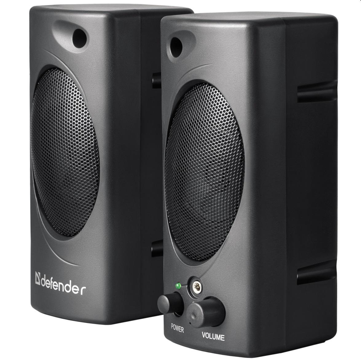 Тонколони Defender SPK-50, 2x3W, USB, 2.0,Черен