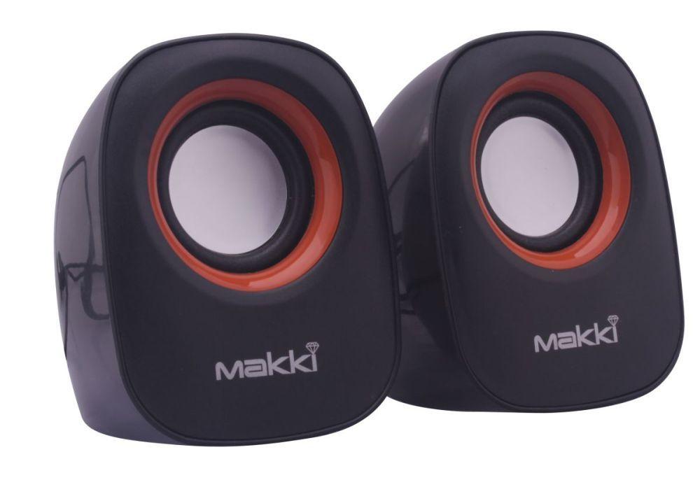 Тонколони MAKKI SP2-017, 2x3W, USB, 2.0, Черни