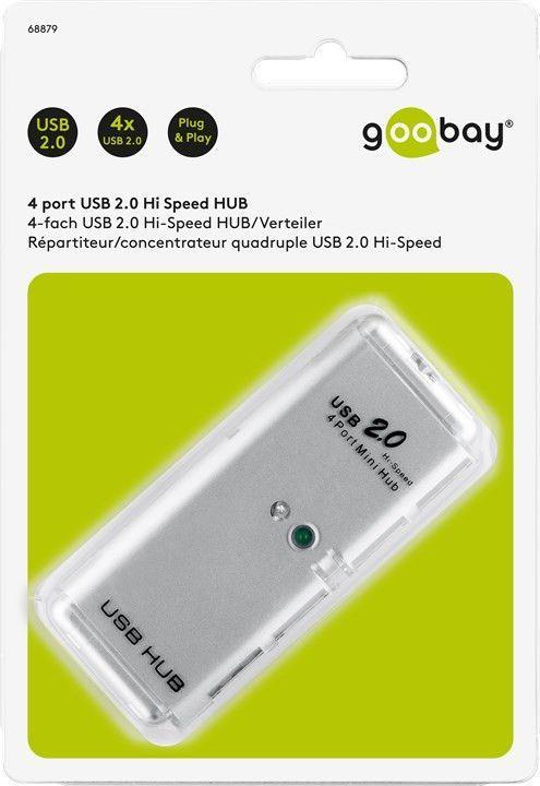 USB 2.0 HUB 4 port Hi-Speed GOOBAY 68879
