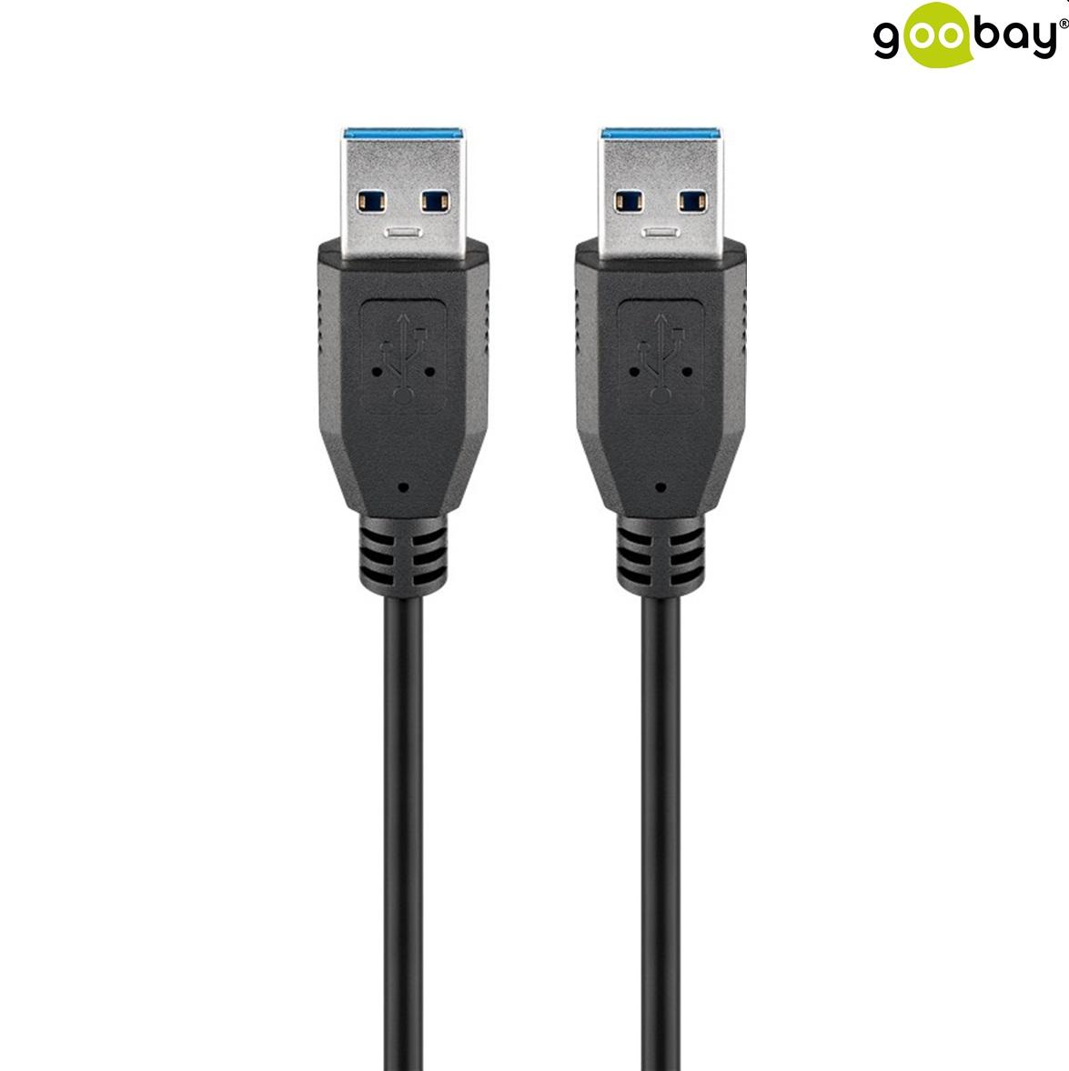 USB 3.0 AM to AM (1.0m) GOOBAY 95717 черен