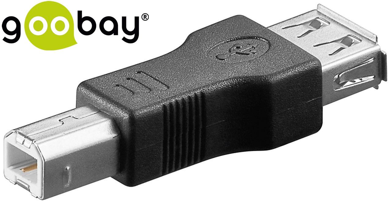 USB A/F to USB B/M GOOBAY