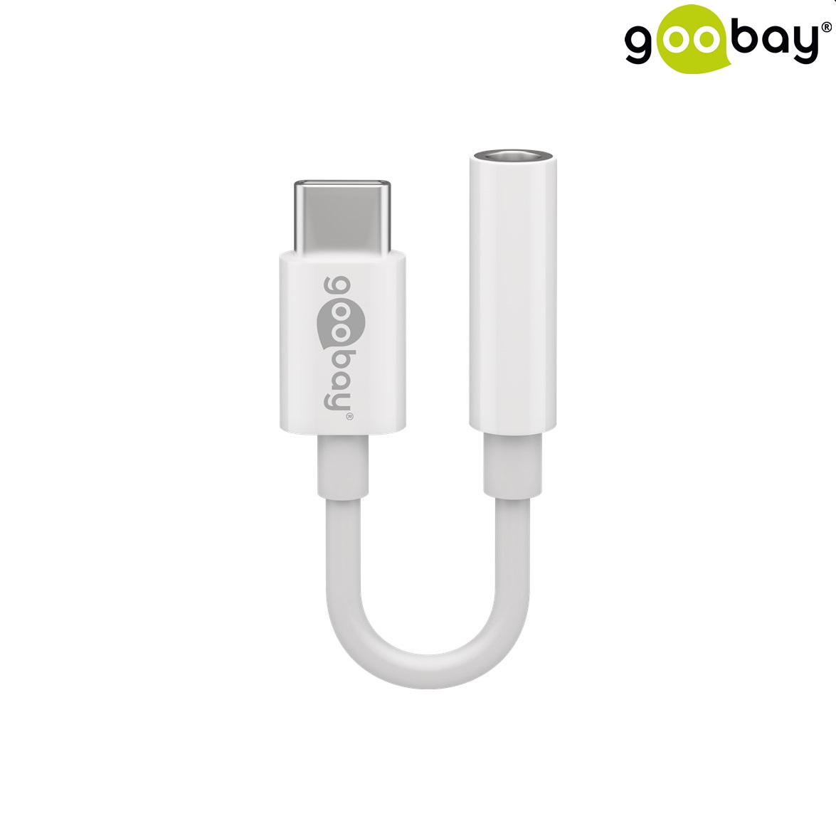 USB-C to 3.5 Audio GOOBAY 0.1м бял 55646