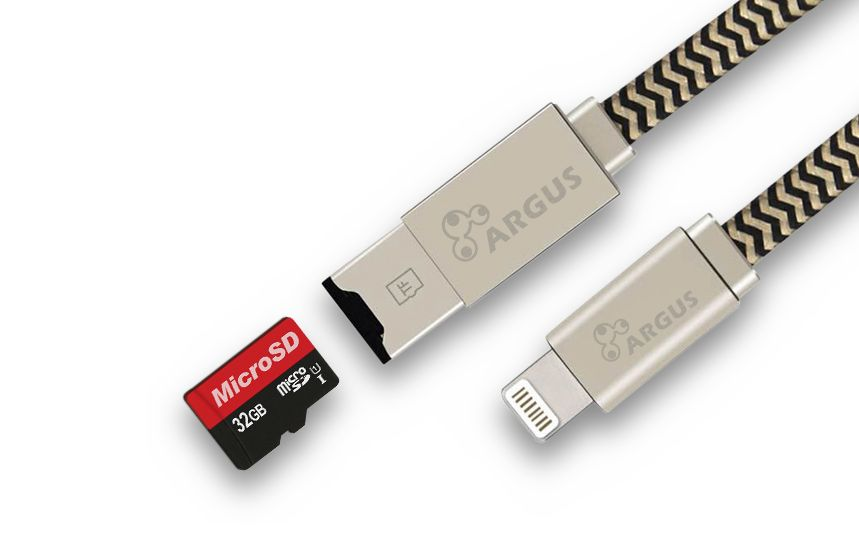 USB male - Apple Lightning 0.25m/2A Argus R-001