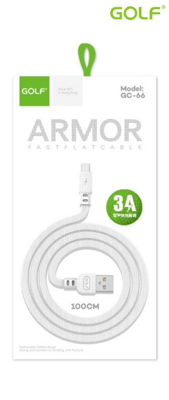 USB male - Apple Lightning 1.0m/3А Golf ARMOR W