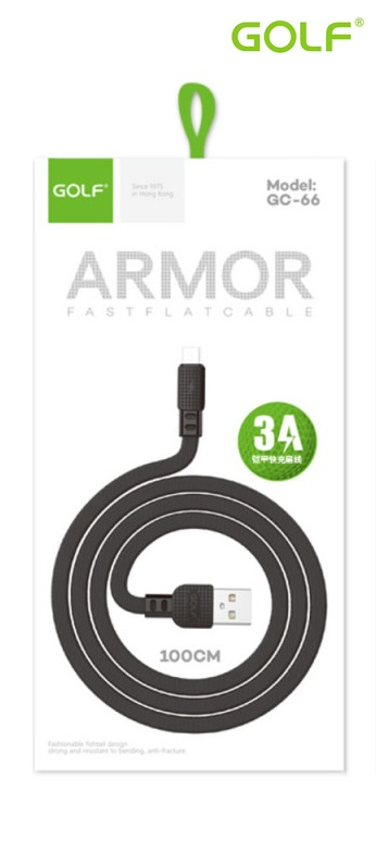 USB male - Apple Lightning 1.0m/3А Golf ARMOR