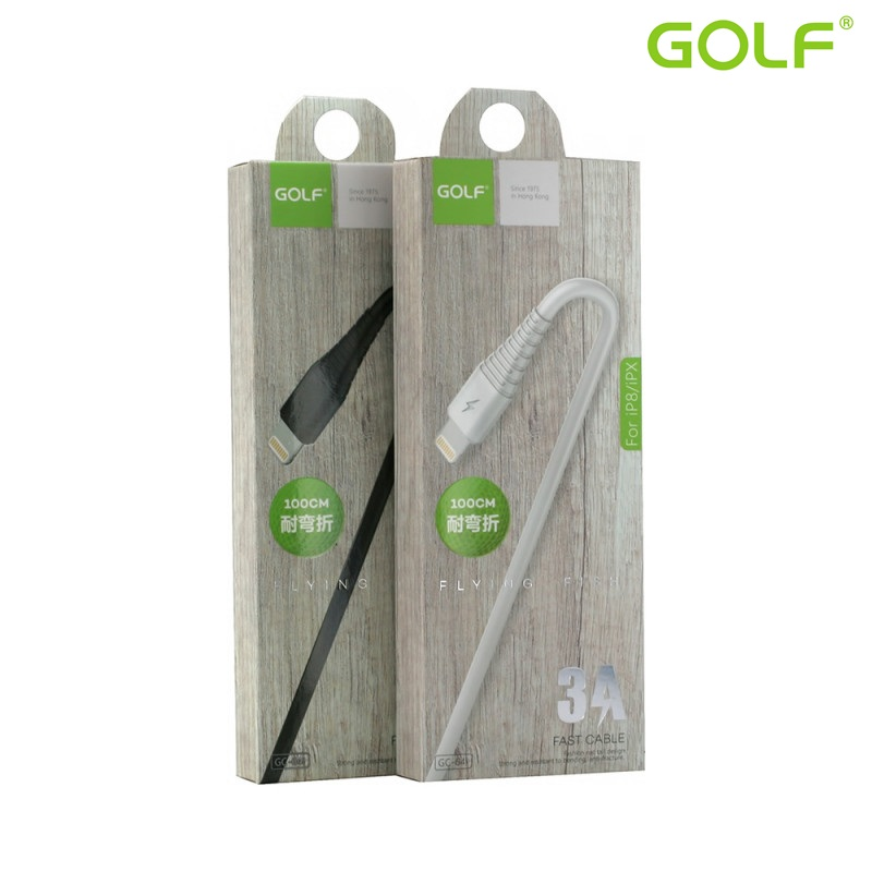 USB male - Apple Lightning 1.0m/3А Golf Flying B