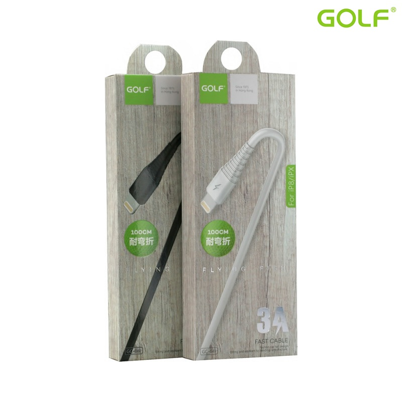 USB male - Apple Lightning 1.0m/3А Golf Flying W