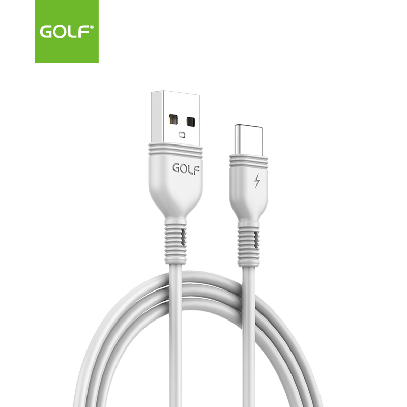 USB male - USB Type-C 1m/2A Golf Nice бял