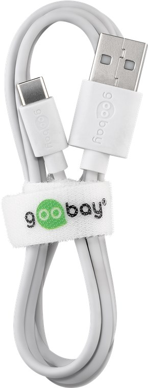 USB male - USB Type-C мъжко 3м.GOOBAY бял