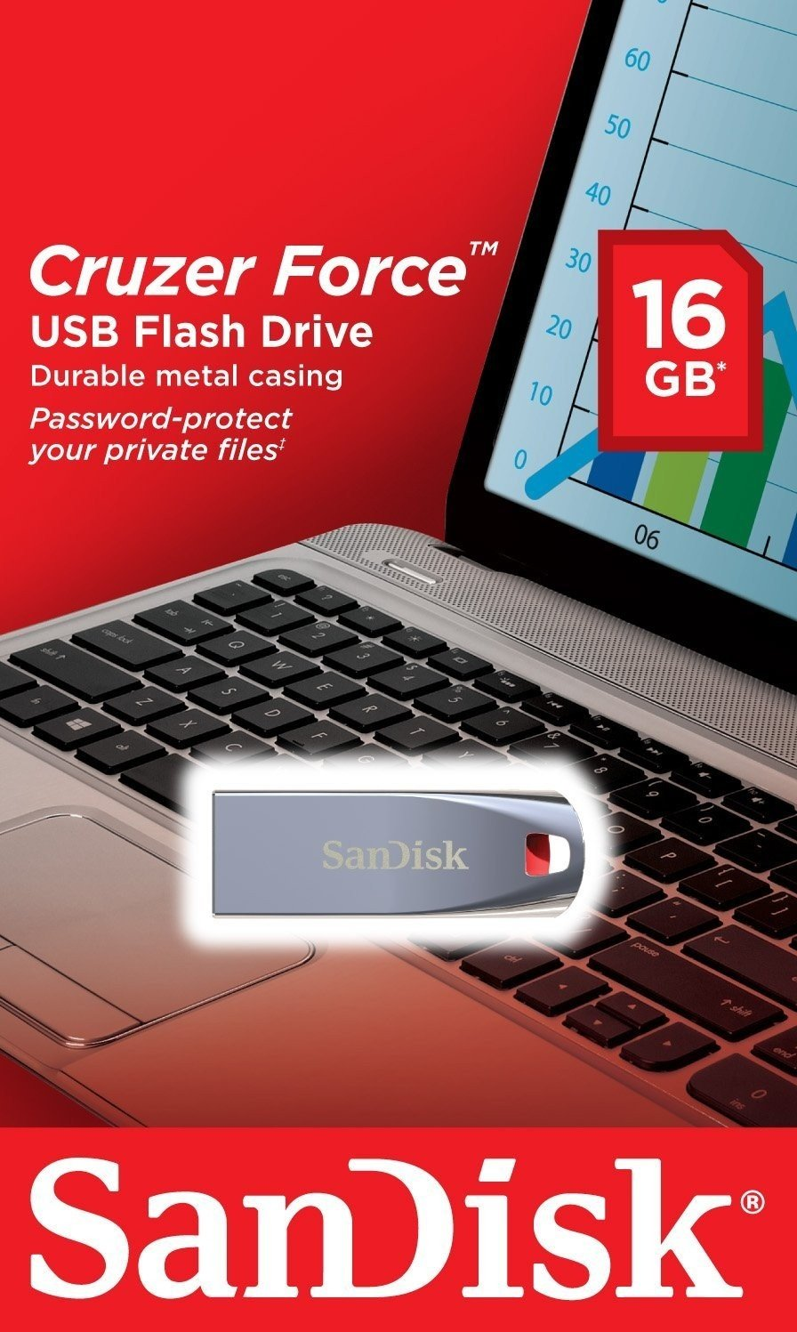 USB памет 16GB SanDisk Cruzer Force