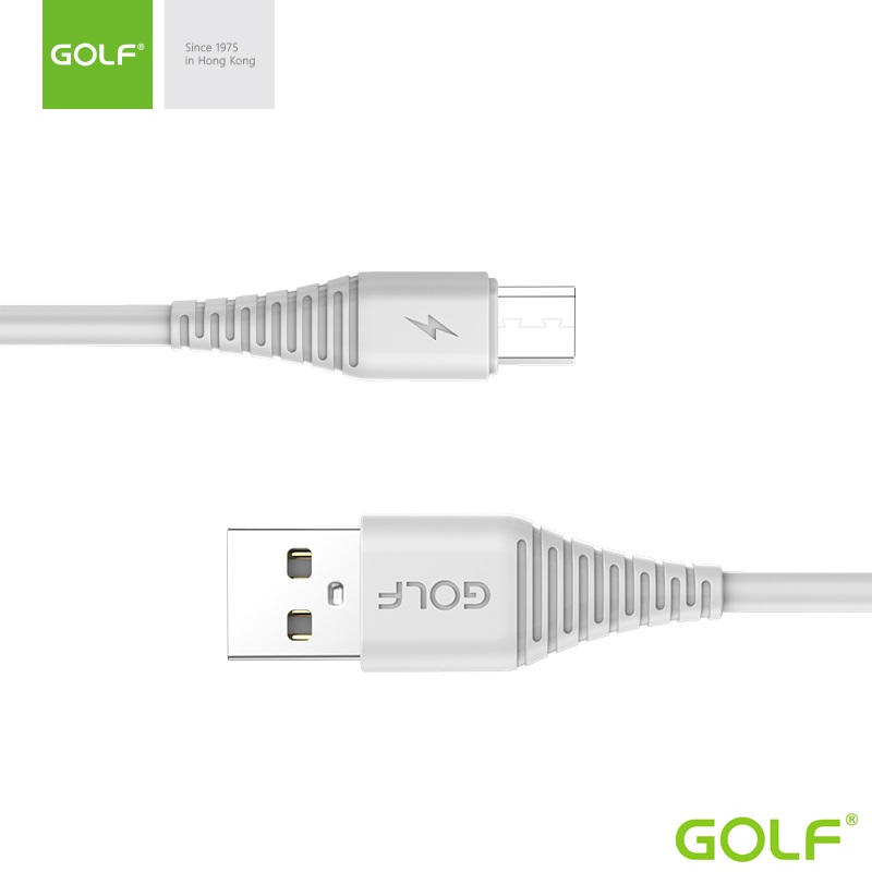 USB to Micro USB (1.0m)3А Golf Flying Бял