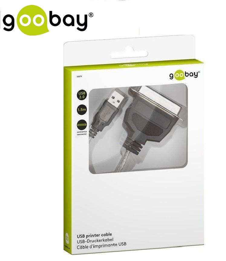 USB2.0 male(A) to Centronics male(36-Pin) GOOBAY
