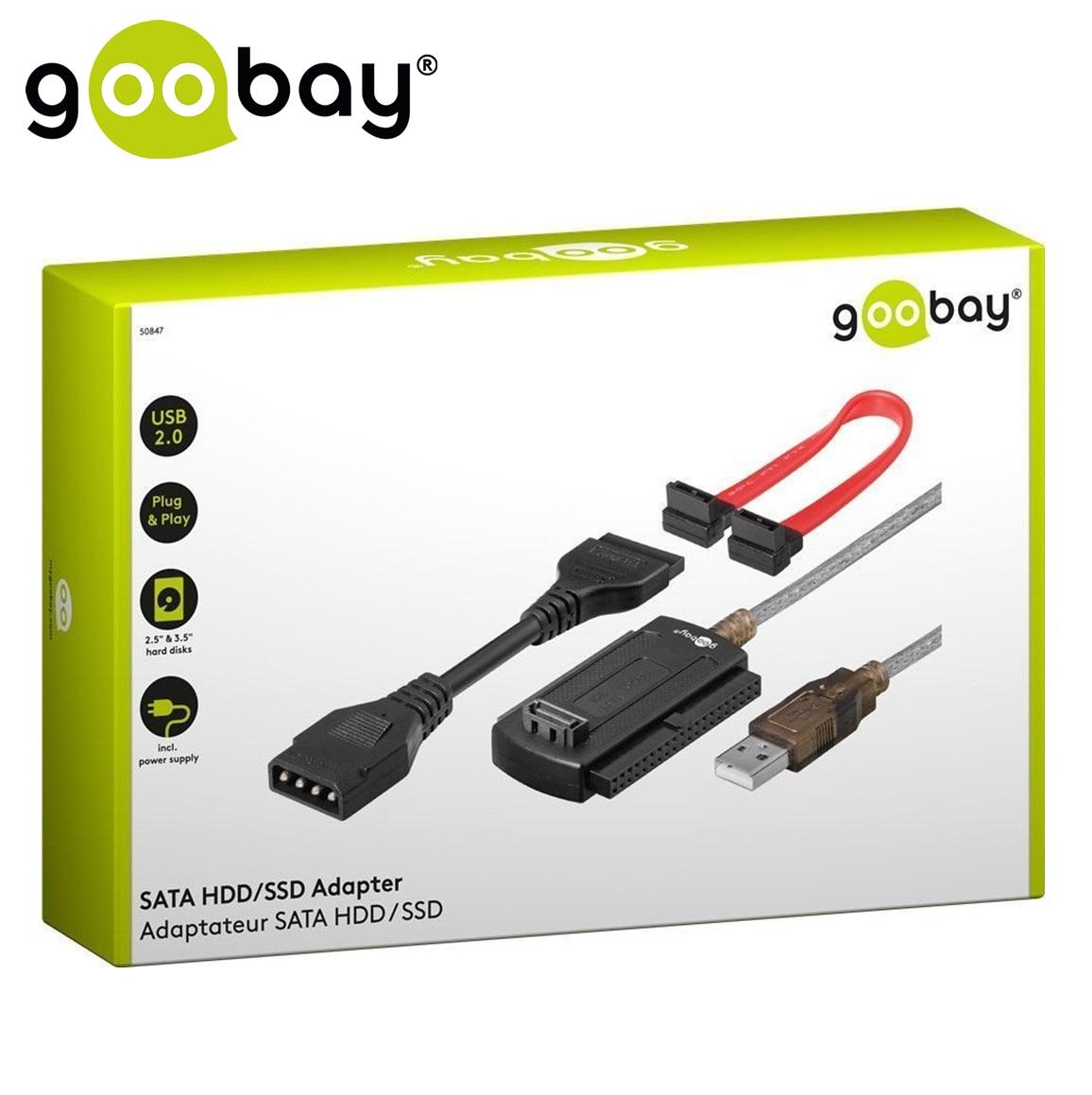 """USB2.0 to ATA/SATA HDD/SSD 2.5""""/3.5"""" GOOBAY"""