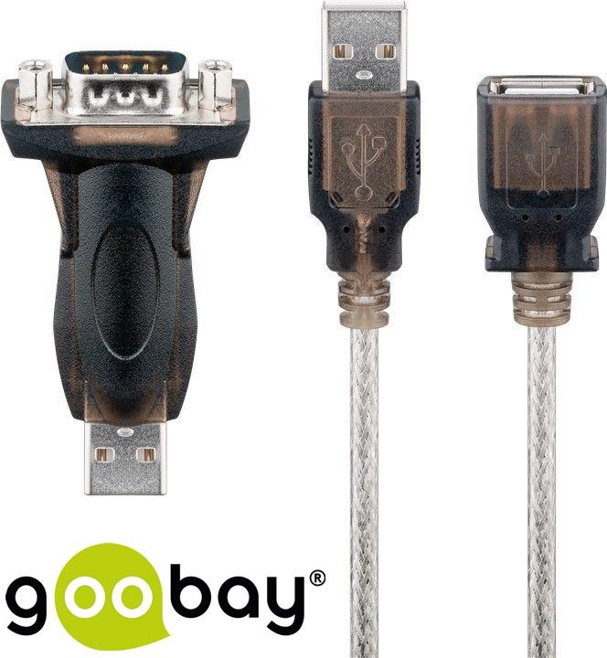 USB2.0 to RS232  1.5m Черен GOOBAY