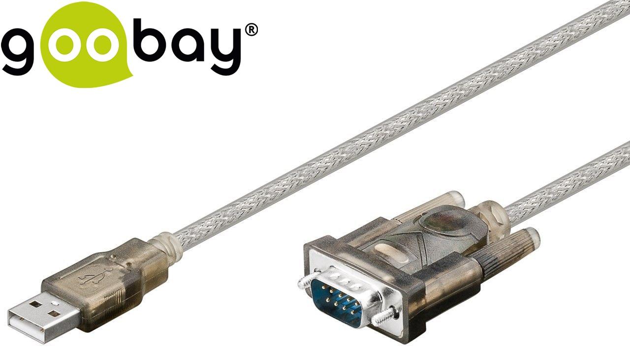 USB2.0 to RS232  1.5m Прозрачен GOOBAY