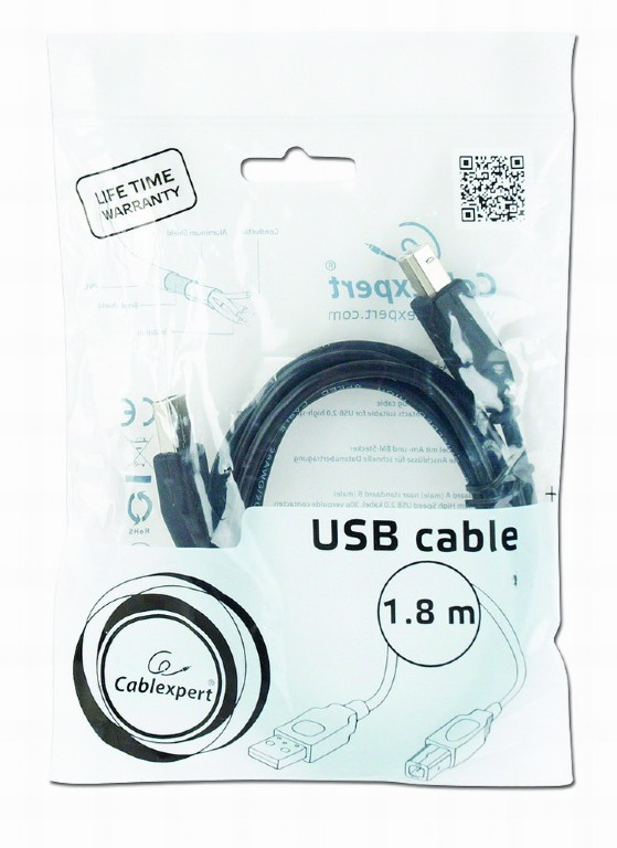 USB2.0 TYPE A-B  1.8m Cablexpert CCP-USB2-AMBM-6