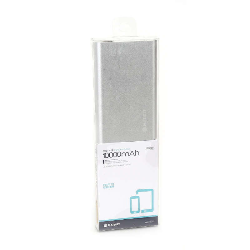 Външна батерия Platinet PMPB10AS, 10000mAh,Бял
