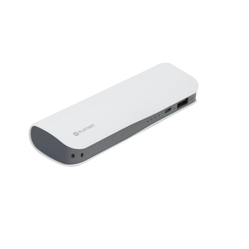 Външна батерия Platinet PMPB72LW, 7200mAh, Бял