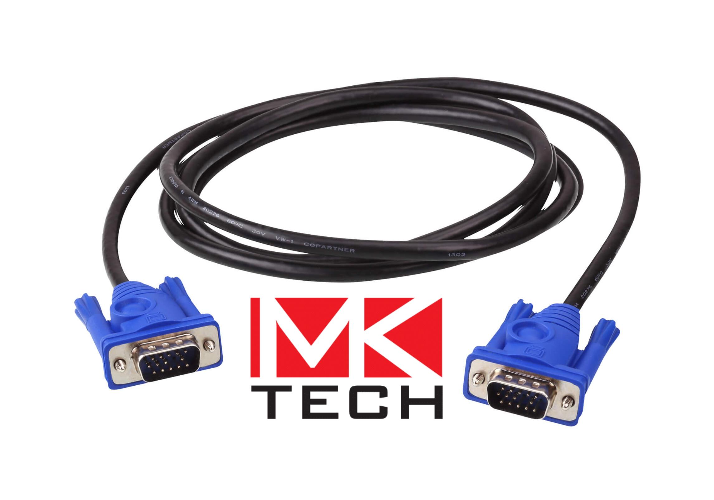 VGA HD15 M / M  1.8m Кабел за монитор MKTECH