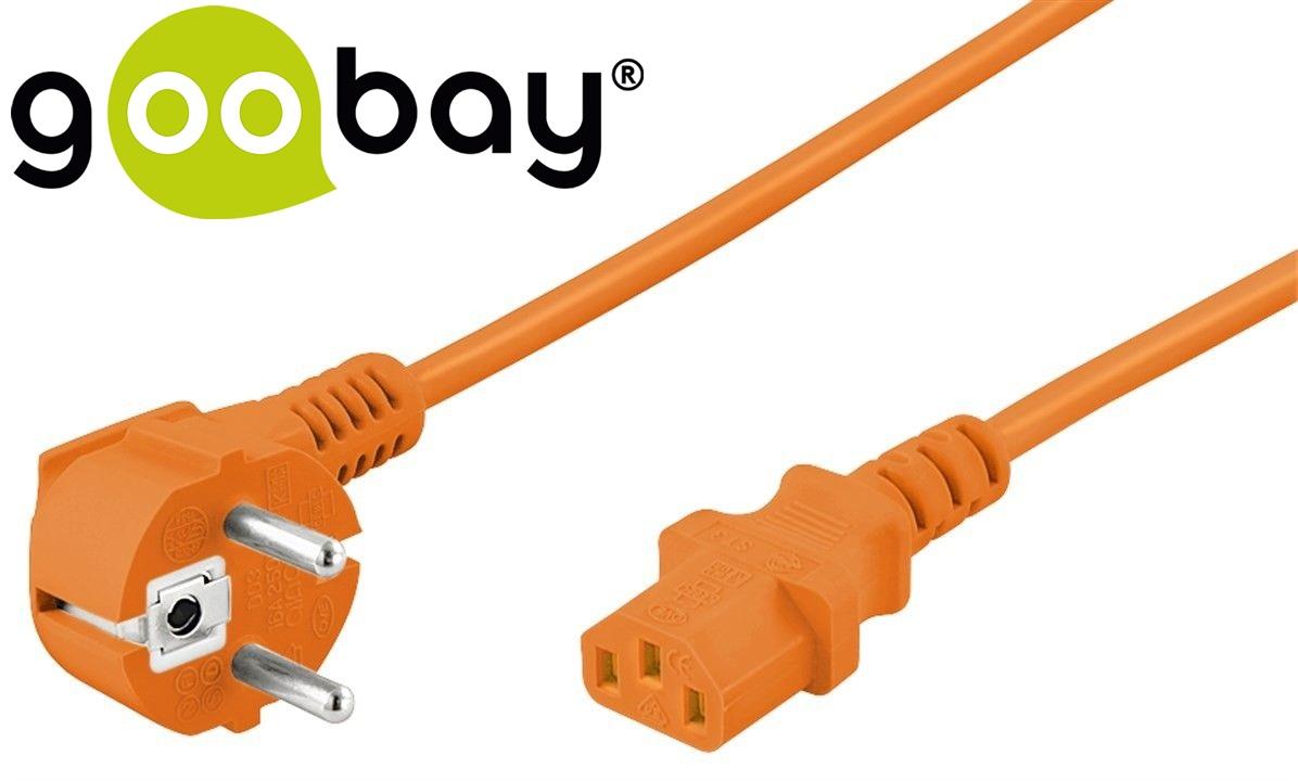 Зах. кабел за компютър 2.0m оранжев GOOBAY