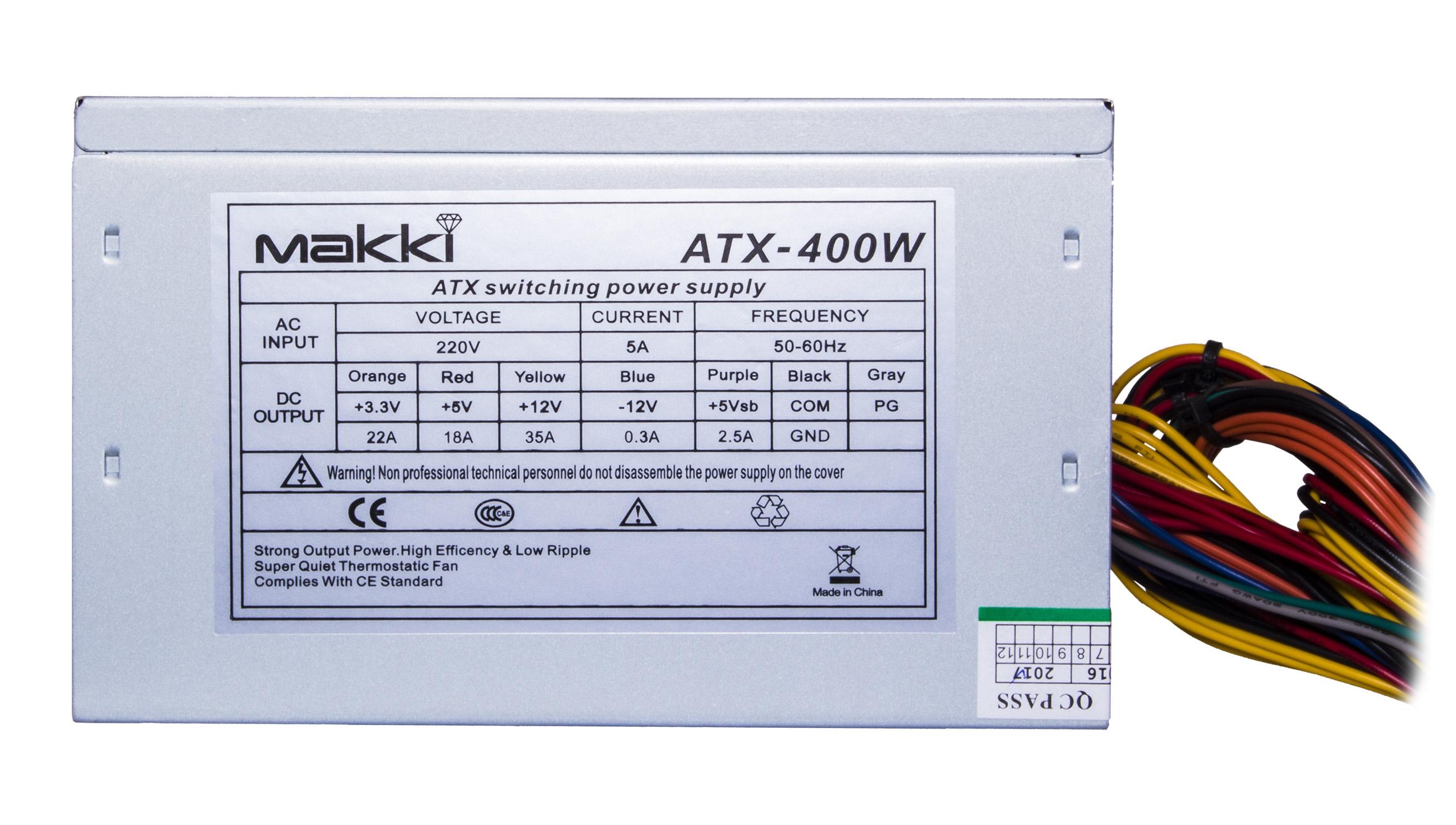 Захранващ блок 400W (Makki MAKKI-ATX400-120)
