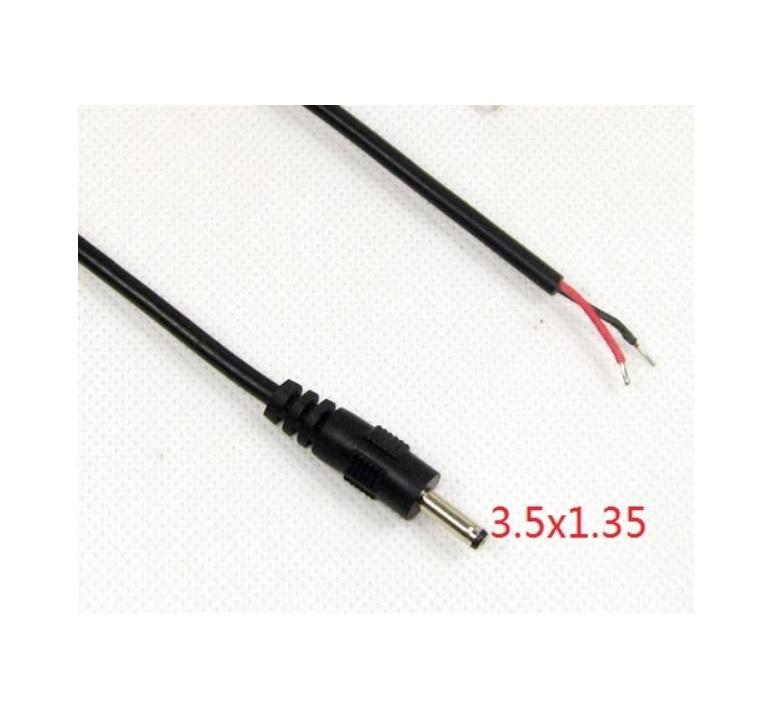 Захранваща букса мъжка 3.5x1.35mm с кабел 1.5m